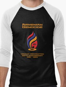 Armenian Genocide 100yr Anniversary Men's Baseball ¾ T-Shirt