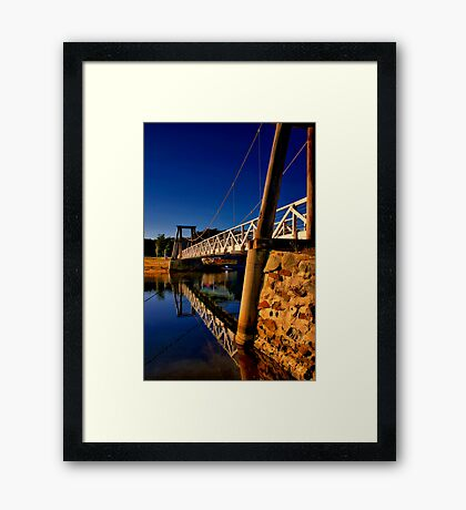 """Reflections of The Crossing"" Framed Print"