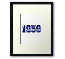 1959 Framed Print
