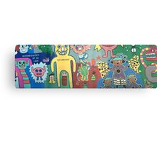 The cartoon wall Canvas Print
