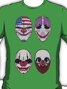 Payday 2 Masks Vector T-Shirt