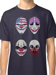 Payday 2 Masks Vector Classic T-Shirt