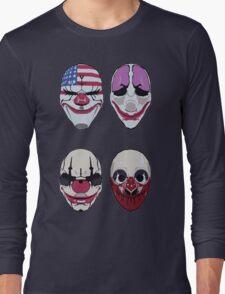 Payday 2 Masks Vector Long Sleeve T-Shirt