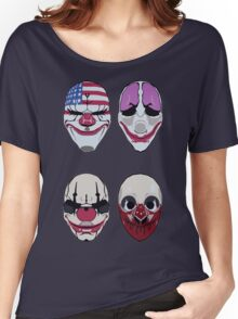 Payday 2 Masks Vector Women's Relaxed Fit T-Shirt