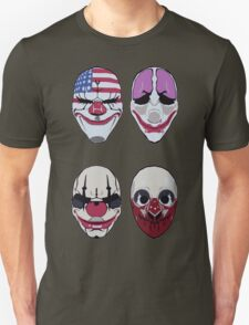 Payday 2 Masks Vector Unisex T-Shirt