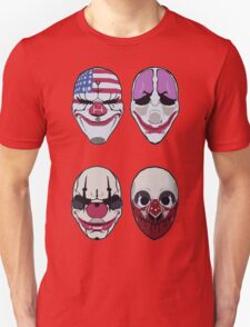 Payday 2 Masks Vector Unisex T-Shirt