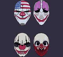 Payday 2 Masks Vector Zipped Hoodie