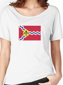 Flag of St. Louis  Women's Relaxed Fit T-Shirt