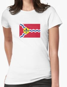 Flag of St. Louis  Womens Fitted T-Shirt