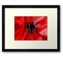 Albania Flag Framed Print