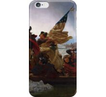 Washington Crossing the Delaware by Emanuel Leutze - Painting iPhone Case/Skin