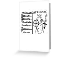 Hector the Well Endowed Greeting Card