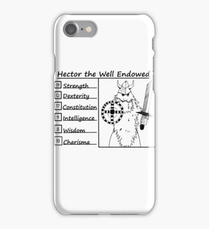 Hector the Well Endowed iPhone Case/Skin