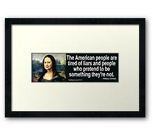 Hillary Clinton Quotation Framed Print