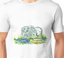 African family Elephant's Unisex T-Shirt