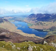 View of Crummock, Lake district, Cumbria, England by nick pautrat