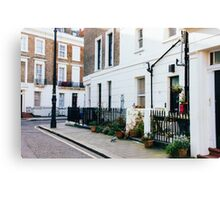 London Residential Street Canvas Print