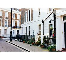 London Residential Street Photographic Print