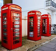 Red Telephone Booths London by PatiDesigns