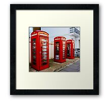 Red Telephone Booths London Framed Print