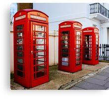 Red Telephone Booths London Canvas Print