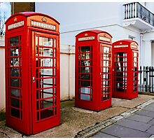 Red Telephone Booths London Photographic Print