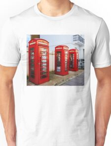 Red Telephone Booths London Unisex T-Shirt