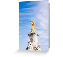 Queen Victoria Memorial Golden Statue Greeting Card