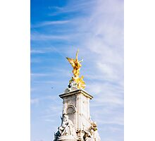 Queen Victoria Memorial Golden Statue Photographic Print