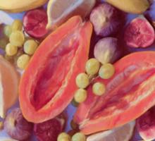 Fruit Salad - a tropical pattern Sticker