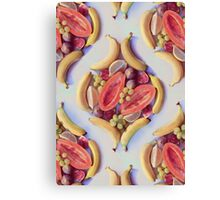 Fruit Salad - a tropical pattern Canvas Print