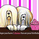 Lhasa Birthday Fun by offleashart