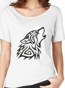 Tribal Wolf Howl Women's Relaxed Fit T-Shirt