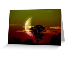 Coloured Moon Greeting Card