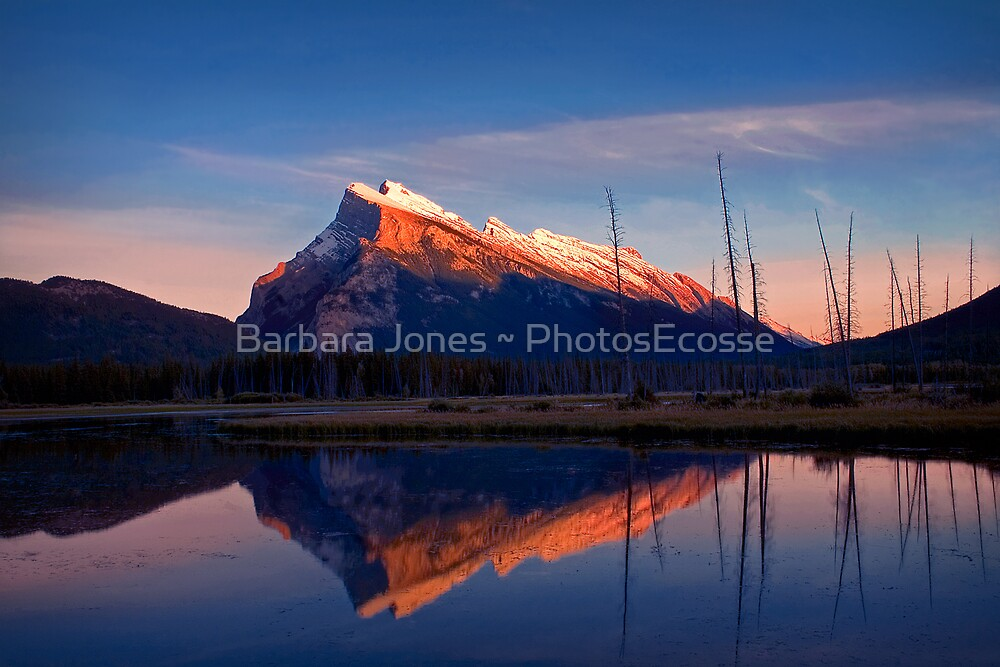 Mount Rundle Sunset, Vermillion lakes, Banff National Park, BC,  Canada by PhotosEcosse