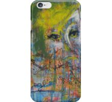 Abstract Woman's face iPhone Case/Skin