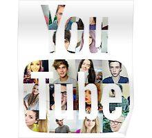 Youtubers Youtube Logo Poster