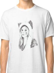 Dotwork Girl Classic T-Shirt