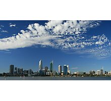 Perth Skyline from south foreshore Photographic Print