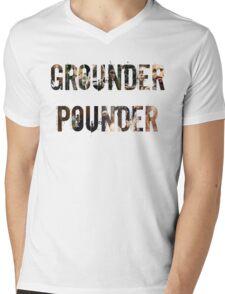 Grounder Pounder Mens V-Neck T-Shirt