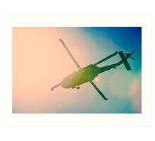 Crossed Chopper Art Print