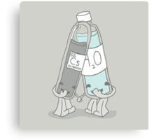The Cutest Couple: Cesium & Water Canvas Print