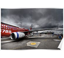 Stormy Departure - Sydney Airport, Australia. Poster
