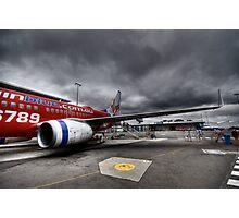Stormy Departure - Sydney Airport, Australia. Photographic Print