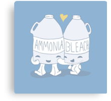 The Cutest Couple: Ammonia & Bleach Canvas Print
