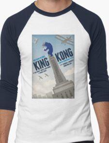 King Kong 1933 alternative movie poster Men's Baseball ¾ T-Shirt