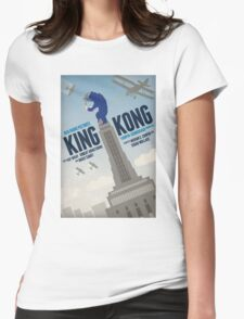 King Kong 1933 alternative movie poster Womens Fitted T-Shirt