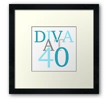 Diva At 40 Framed Print