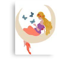moonlight childrens dreams Canvas Print