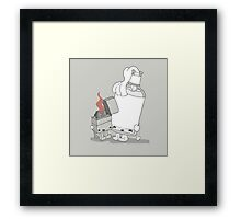 The Cutest Couple: Lighter & Alcohol Framed Print